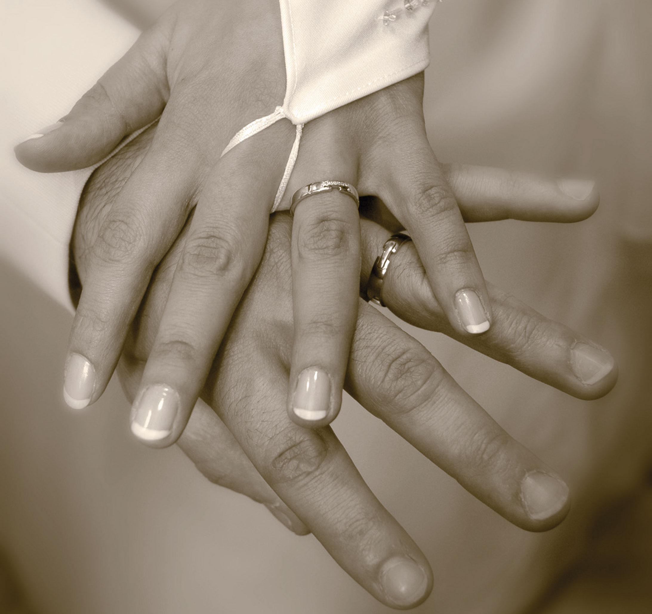 Le chignon, le jour du mariage